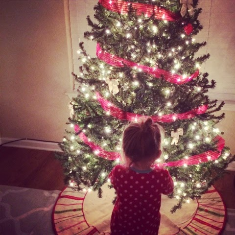 Kaylee and Christmas Tree 2014