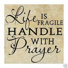 EDL fragile - prayer